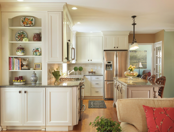 An open floor plan helps make any kitchen more family friendly